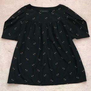 EUC Hatch Tulip floral print blouse, sz 1 (Small)